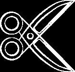 LOGO - Schere transp weiß